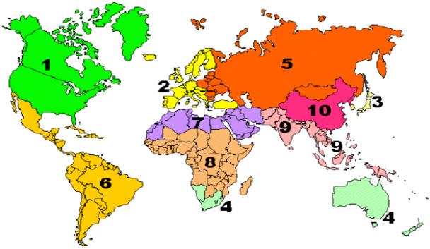 10 regions